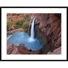 Global Gallery Havasu Falls, Grand Canyon, Arizona by Tim Fitzharris Framed Photographic Print Size: