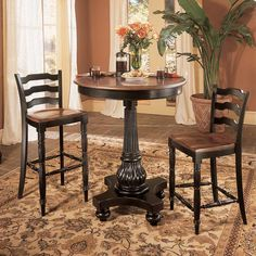 Pub tables woods and charcoal on pinterest for Dining room tables knoxville tn