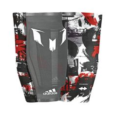 Adidas Messi 10 Shinguards (Black/Red)