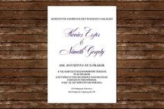 Classic Wedding Invitation, Wedding Invitation, Lilac Wedding Invitation Lilac Wedding Invitations, Unique Weddings, Purple Wedding Invitations, Unique Wedding Favors
