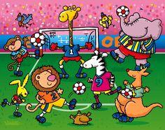 Praatplaat voor kleuters / futbol+animales