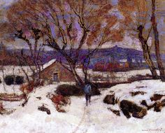 The Athenaeum - Snow at Murol (Victor Charreton - )