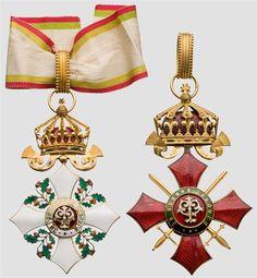 BULGARIEN - Zwei Kommandeurkreuze (3. Klasse) des Militär- und Zivilverdienstordens