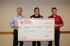 Lucknow Kinsmen donation to the Wingham Hospital Physician Recruitment Program