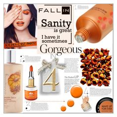 """""""Fall Beauty: Orange Crush"""" by orietta-rose ❤ liked on Polyvore featuring beauty, Topshop, Giorgio Armani, Origins, Elizabeth Arden, MAKE UP FOR EVER, Beauty, orangecrush and fallbeauty"""
