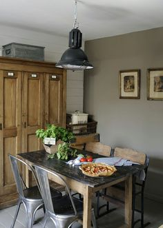 Rustic farmhouse kitchen.