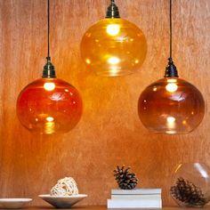 Orange Tree Vial Hanging Lamp Yellow