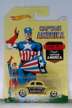 Hot Wheels Captain America '40 Ford Coupe.  PRICE: $ 3.00
