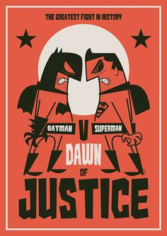 Batman v Superman: Dawn of Justice by Diego Riselli - Home of the Alternative Movie Poster -AMP- Batman Cartoon, Batman Vs Superman, Superman Dawn Of Justice, Dc Comics, Univers Dc, Retro Cartoons, Cartoon Posters, Love Posters, E Dawn
