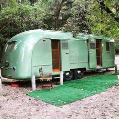 Green Vagabond - Vintage Camper Trailers