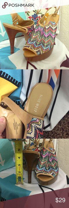 👠Nine West fun heels 👠Nine West fun heels. Worn only a few times in like new condition!! Nine West Shoes Heels