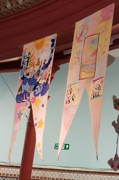 Two banners made within the Armistice and After Project with Leeds City Museum depicting symbols of Peace. Peace Meaning, Leeds City, City Museum, Banners, Symbols, Display, Create, Projects, Design