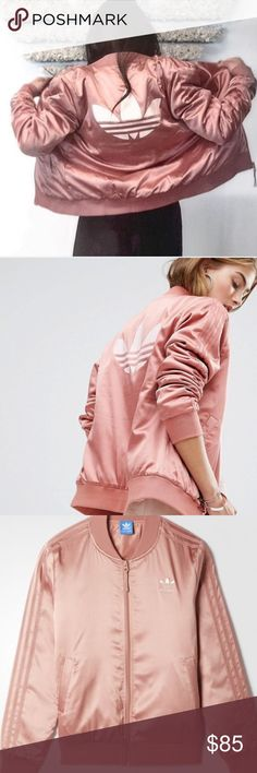 Rose gold Adidas bomber jacket Brand new never worn adidas Jackets & Coats