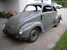 VW Kohlruss Carosserie 1942. modified Austrian Steyr body on a KDF Chassis. | See more about Volkswagen and Html.