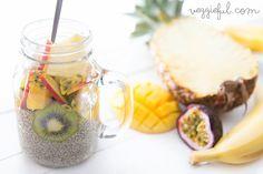 Veggieful: Vegan Tropical Fruit Chia Pudding Recipe