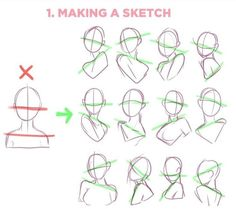 Drawing Body Poses, Body Reference Drawing, Art Reference Poses, Drawing Tips, Anime Drawing Tutorials, Drawing Templates, Drawing Stuff, Drawing Techniques, Art Tutorials