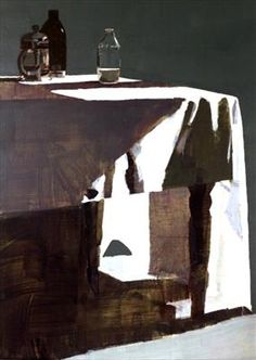 Susan Ashworth - Table Cloth, Milk Bottle and Cafetiere