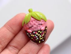 sleeping strawberries  I thought it would be a cute spin on regular valentine choco strawberries :))