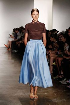 Ostwald Helgason - my personal favorite look delivered by the designer last month during NYC Fashion Week 2014. This fun, whimsical, sporty yet chic ensemble revives a fun classic look!