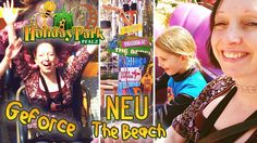 HOLIDAY PARK 2017 | Neuer Themenbereich THE BEACH | Achterbahn bigFM GEFORCE Front on-ride | XSCAPE