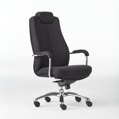 The office chairs come in a wide range of leather, mesh, polyurethane and fabric profiles. They are available with a choice of armrests and different base options like spider, polished aluminium and mirror. These includes ranges with head rest and neck rest and lumbar support chair for people with back problems.