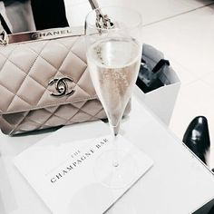 chanel, champagne, and style image