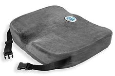Memory Foam Chair Cushion Pillow with Straps, Best Comfort & Wider for Lower Back Pain