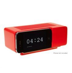 Jonas Damon Alarm Dock in Red - Gifts Under $50 - Gifts