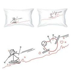 """BoldLoft """"Fallen for You"""" Couple Pillowcases-Romantic Valentine's Day Gifts for Couples,Cute Valentines Gifts for Him or Her,Romantic Anniversary Gifts"""