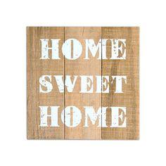 Bild Home sweet Home, ca B:24 x L:24cm, grau