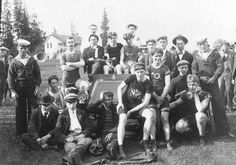 Members of the Vancouver Bicycle Club, sailors, and others at Brockton Point, 1890s Source: City of Vancouver Archives #Sp P15.2
