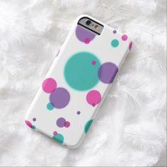 Mint pink purple dots iPhone 6 case
