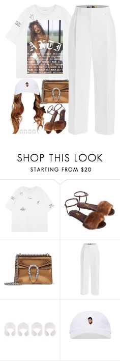 """""""ANTi"""" by oh-aurora ❤ liked on Polyvore featuring Allegra, Gucci, MSGM and Maison Margiela"""