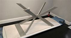 Modern Table X Base Prefabricated Model 003A