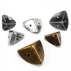 22 mm 3 Eared Metal Corner Protectors Guard Desk Edge Cover Loudspeaker Cabinets - AJL