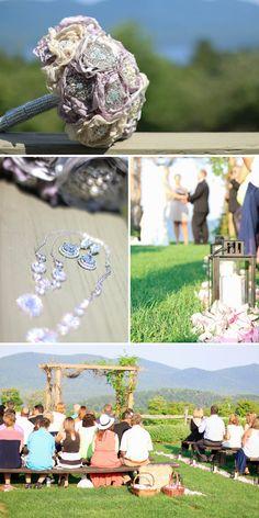 Julie & Brian Real Vermont Wedding Inspiration | Mountain Top Inn and Resort Wedding | Vermont Bride Magazine | Rustic Elegant Purple and Gray Wedding