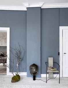 Seinän väri - Unngå så langt som mulig å bli inspirert av andre Blue Rooms, Blue Walls, Living Room Colors, Living Room Designs, Best Bedroom Colors, Colour Architecture, Small Space Interior Design, Sofa Design, Wall Colors