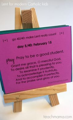 lent for modern catholic kids | daily reflections and prayers for kids and families | printable daily lenten reflections