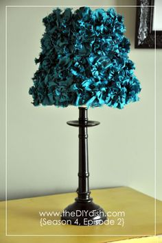 DIYDISH . . . love the website . . . lampshade covered with duponi flowers