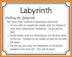 Labyrinth Prayer card