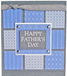 Crafty Creations by Beth: Masculine Cards Father's Day Card Idea Masculine Birthday Cards, Birthday Cards For Men, Masculine Cards, Male Birthday, Happy Birthday, Boy Cards, Cute Cards, Fathers Day Crafts, Happy Fathers Day