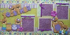 We Go Together Boy Girl 2 Premade Scrapbook Pages Paper Piecing 4 Album | eBay