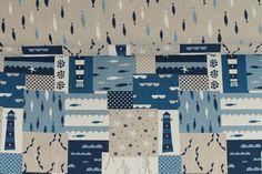 Stoffpakete - 1003 Paket Baumwolle Köper Meer Beige Blau 1,00m - ein Designerstück von pretty-child bei DaWanda