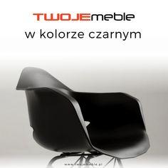 Twoje meble w kolorze czarnym czyli czarne aranzacje – na zdjęciu krzesło czarne Match Arms Metal Black, CustomForm #TwojeMeble #Czarne Aranzacje #Krzesło #MatchArms #CustomForm