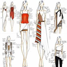 Ideas for fashion design drawings illustrations sketch books Illustration Mode, Fashion Illustration Sketches, Fashion Sketches, Design Illustrations, Fashion Design Sketchbook, Fashion Design Drawings, Trendy Fashion, Fashion Models, Fashion Women