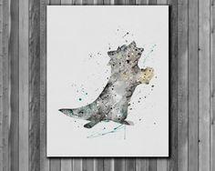 Meeko DISNEY, Pocahontas poster - Art Print, instant download, Watercolor Print by digitalaquamarine on Etsy https://www.etsy.com/listing/218751897/meeko-disney-pocahontas-poster-art-print