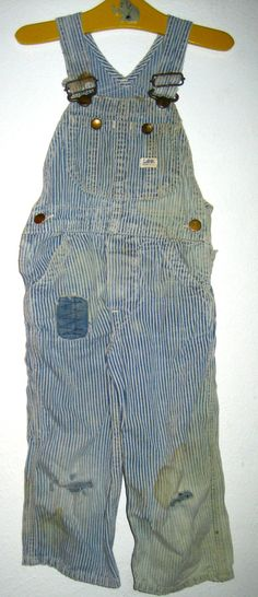 Vintage child size Lee hickory stripe overalls union made sanforized distressed by sweetalicelovesyou on Etsy