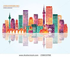 Image result for johannesburg skyline silhouette