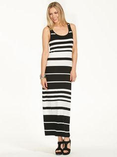 22821985844 Image for Striped Maxi Dress from Just Jeans Striped Maxi Dresses