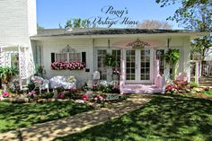 Penny's Vintage Home: Pretty Pink Back Porch